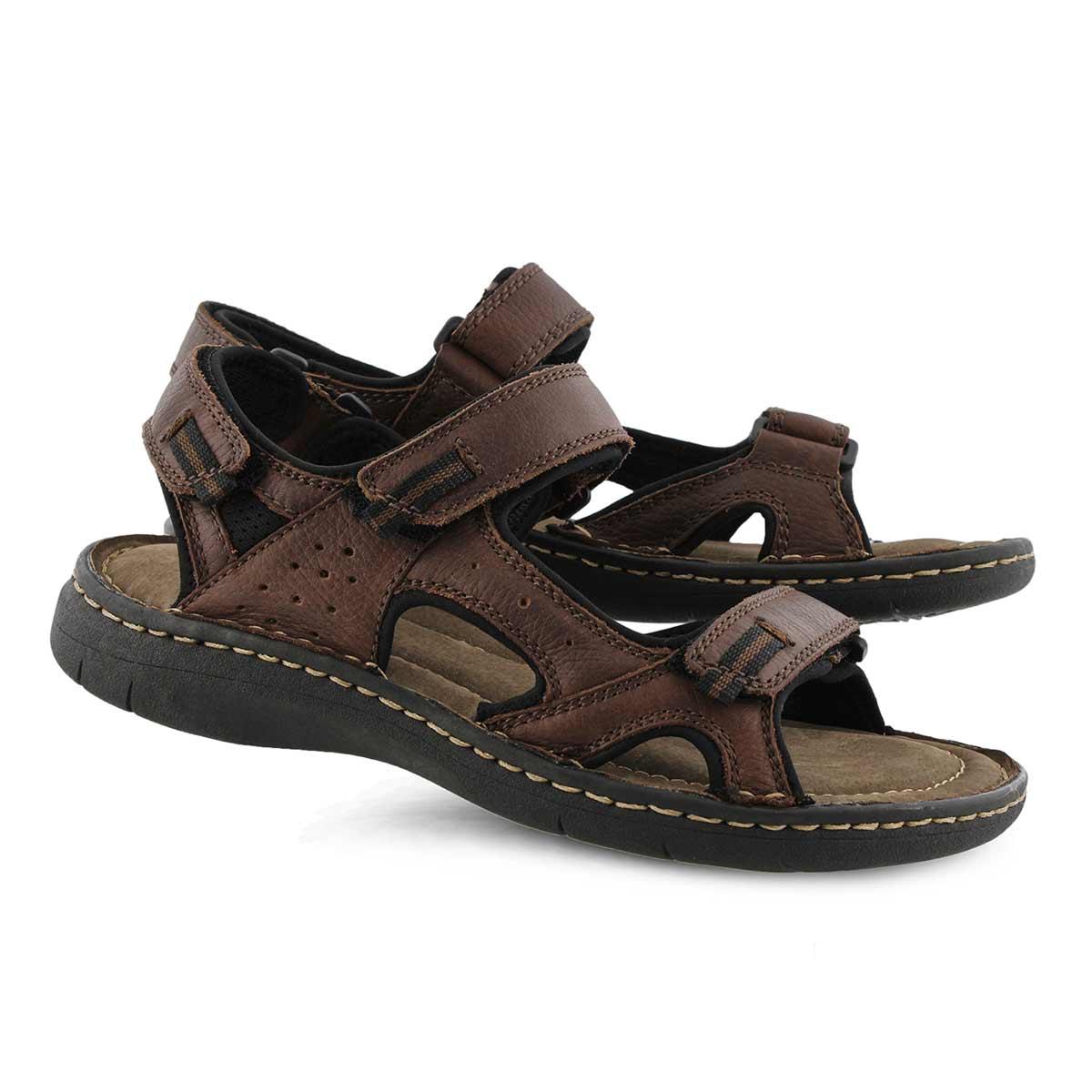 Mns Curtis 5 brown 3 strap sandal
