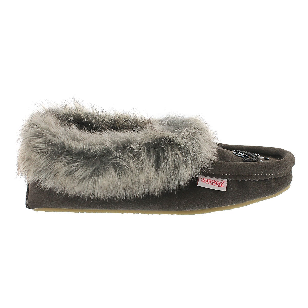 Lds Cute faux me grey crepe sole faux