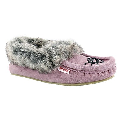 SoftMoc Women's CUTE FAUX ME mauve crepe sole moccasins