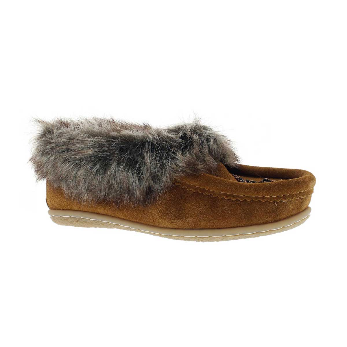 Girls' CUTE 2 JR hazel faux rabbit moccasins