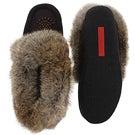 Lds Cute 3 chocolate rabbit fur moccasin