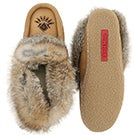 Lds Cute4 cork rabbit fur lthr moccasin