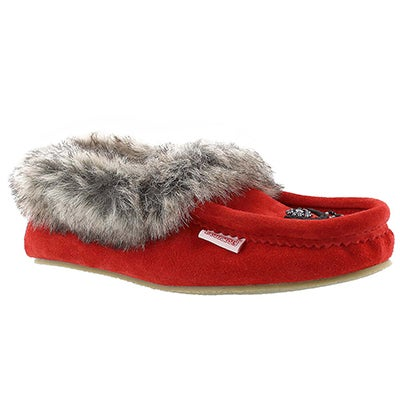 SoftMoc Women's CUTE FAUX ME red crepe sole moccasins