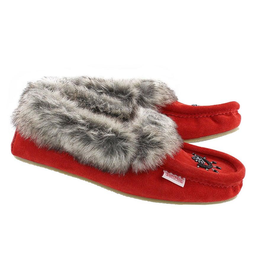 Lds Cute faux me red crepe sole faux