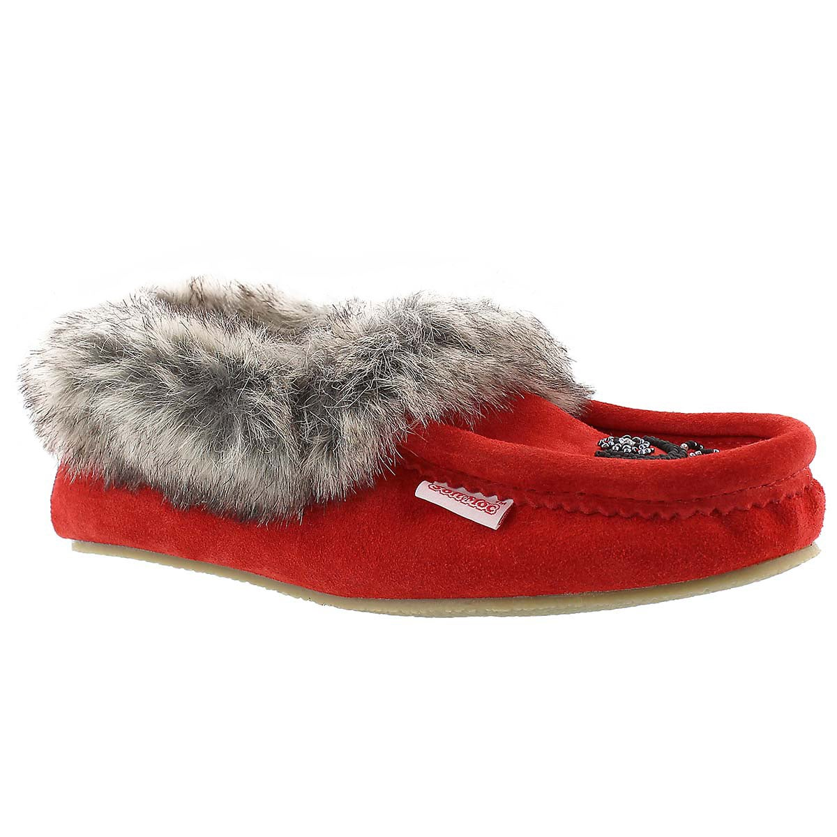 Women's CUTE FAUX ME red crepe sole moccasins