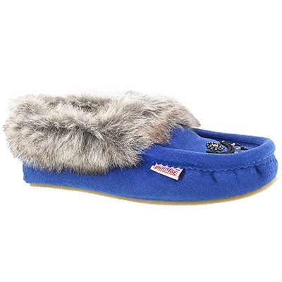 SoftMoc Women's CUTE FAUX ME blue crepe sole moccasins