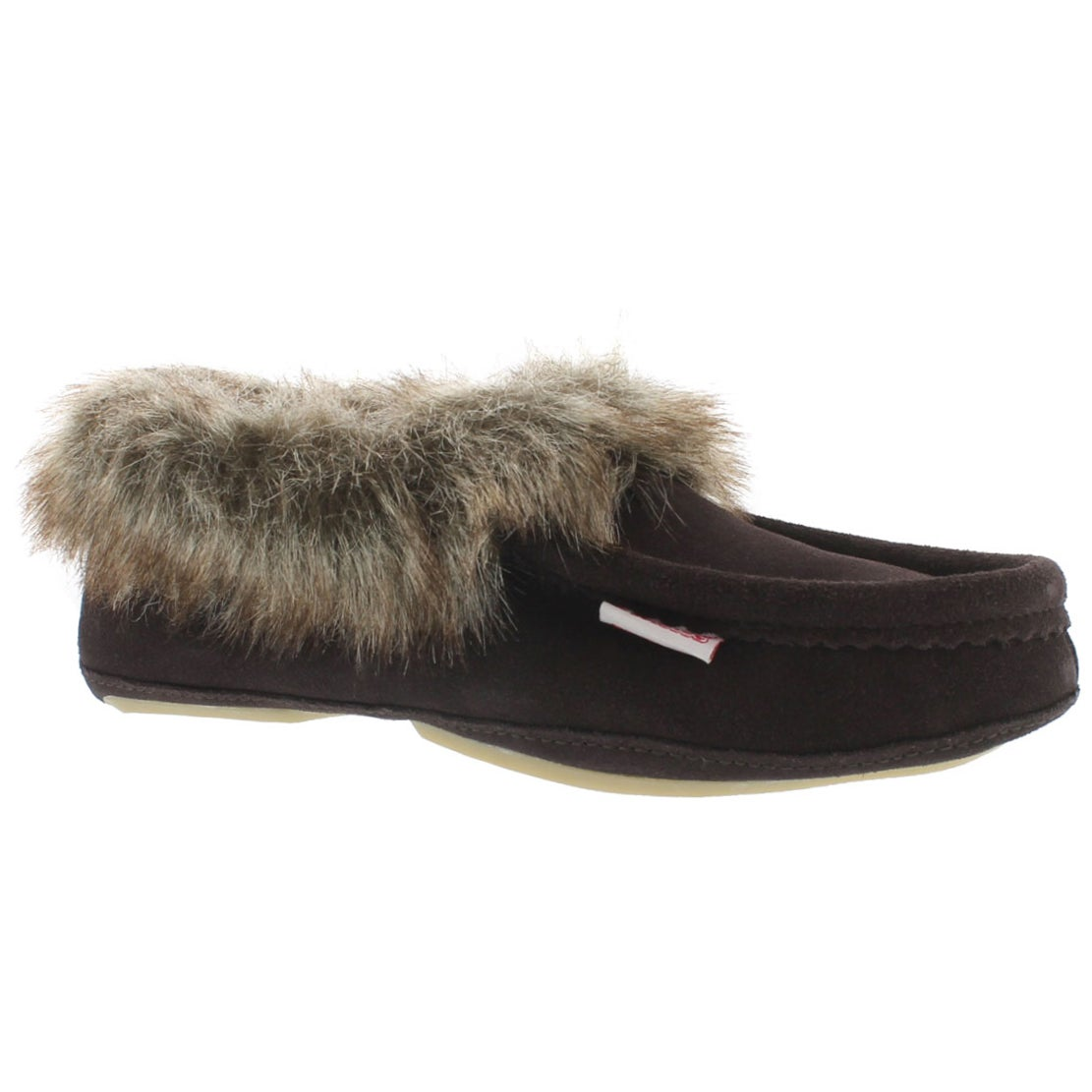 Women's CUTE FAUX U brown moccasins