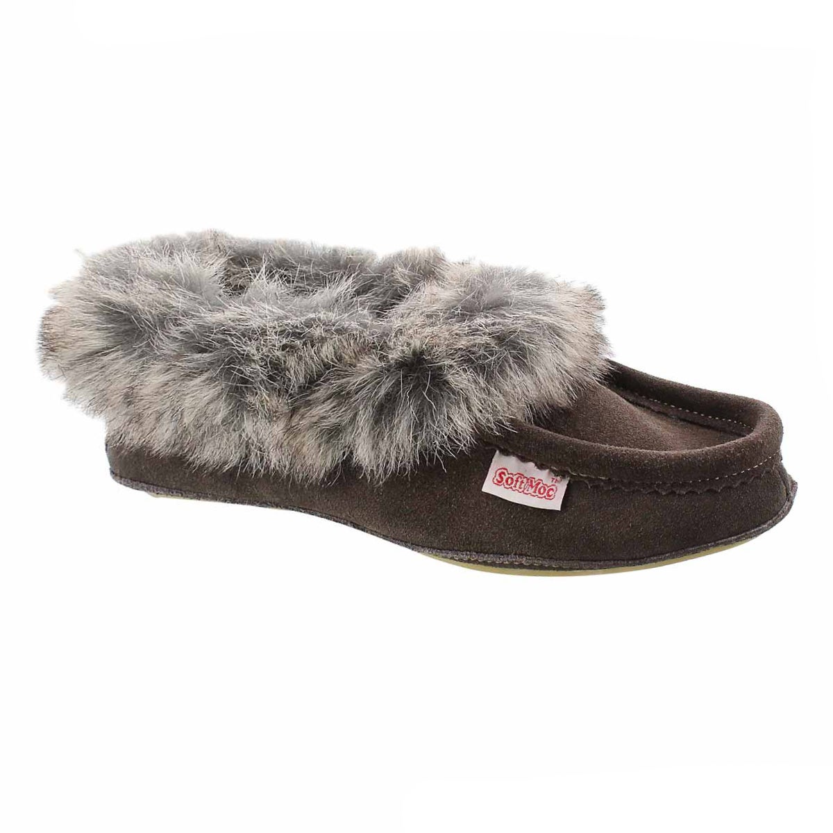 Women's CUTE FAUX U grey moccasins