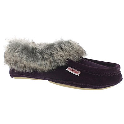 SoftMoc Women's CUTE FAUX U purple moccasins