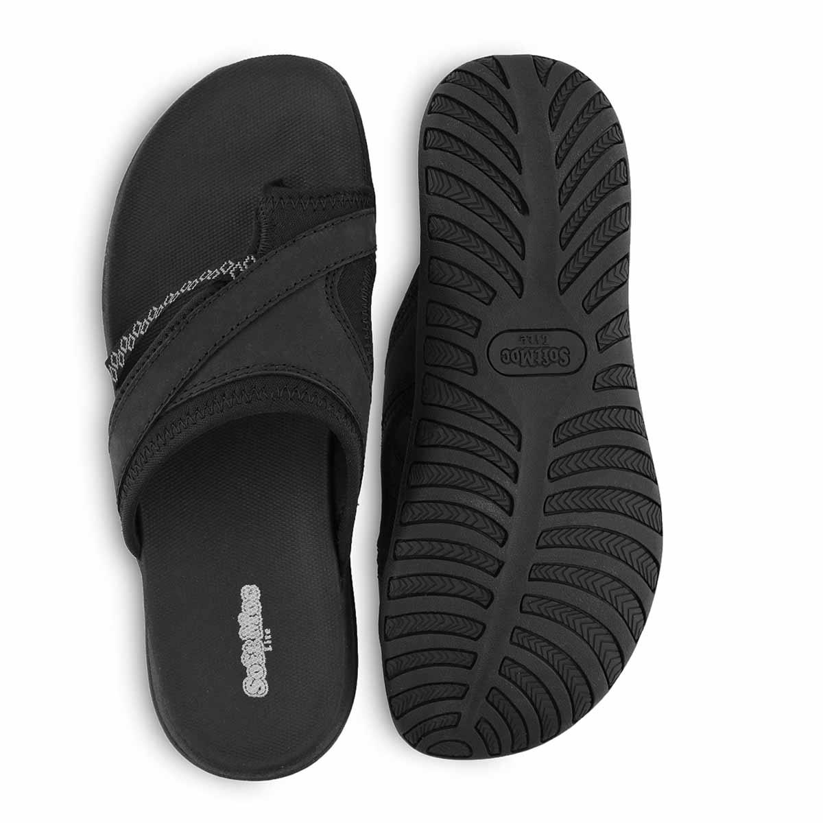 Lds Cynthia black toe wrap sport sandal