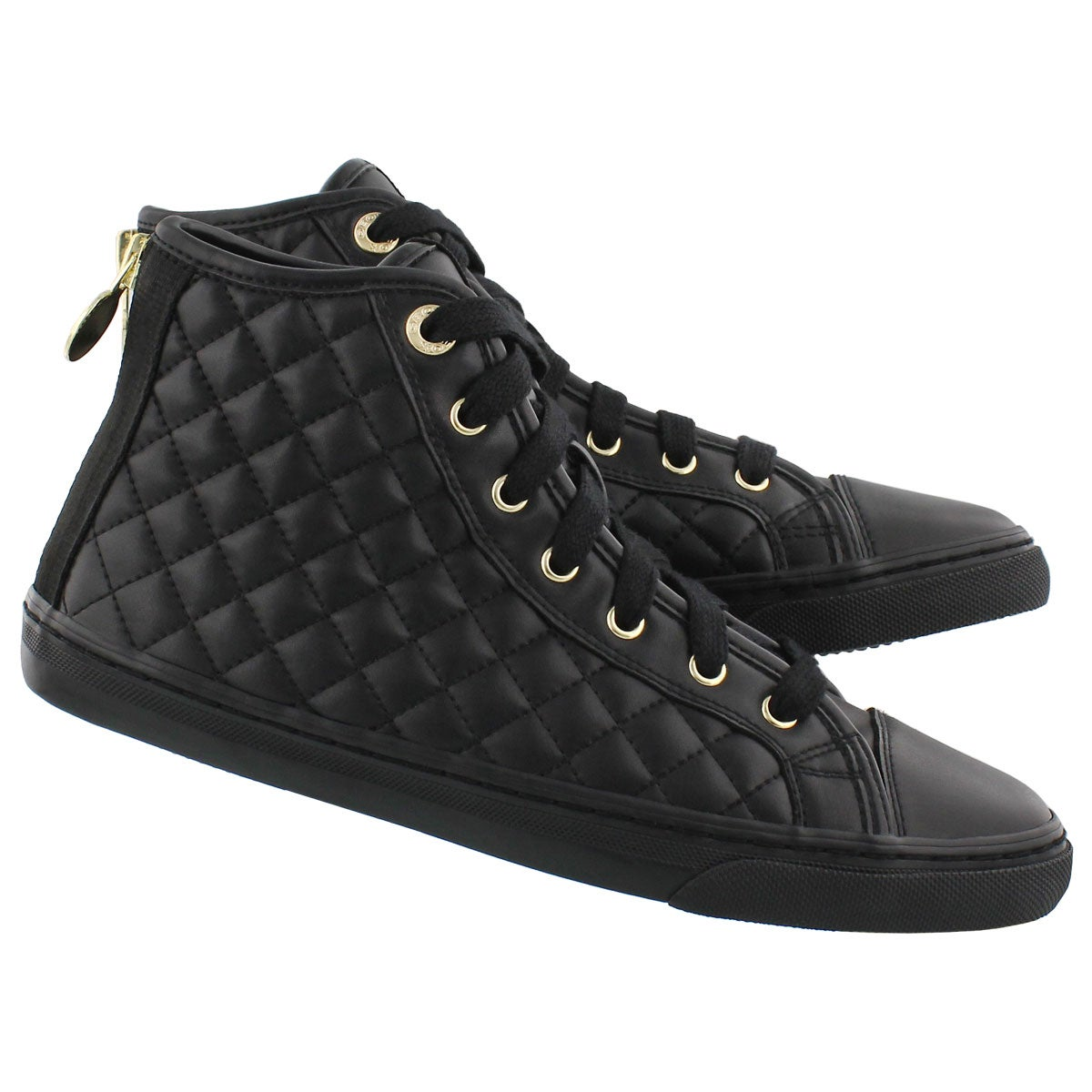 Lds New Club black lace up sneaker