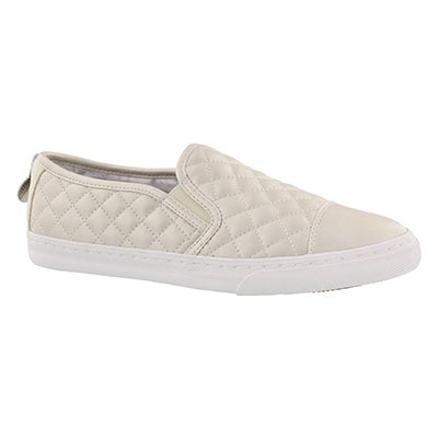 Geox Women's NEW CLUB white slip on sneakers