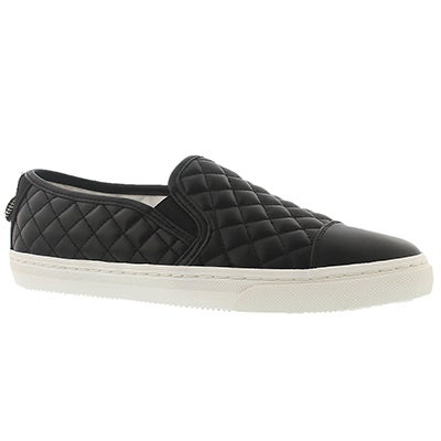 Geox Women's NEW CLUB C black slip-on sneakers