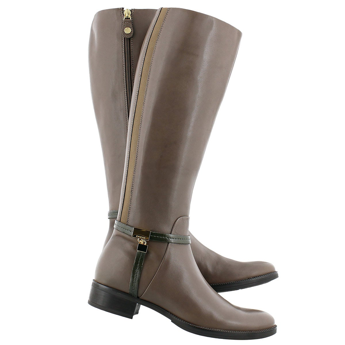 Lds Mendi Stivali B gry/olv riding boot