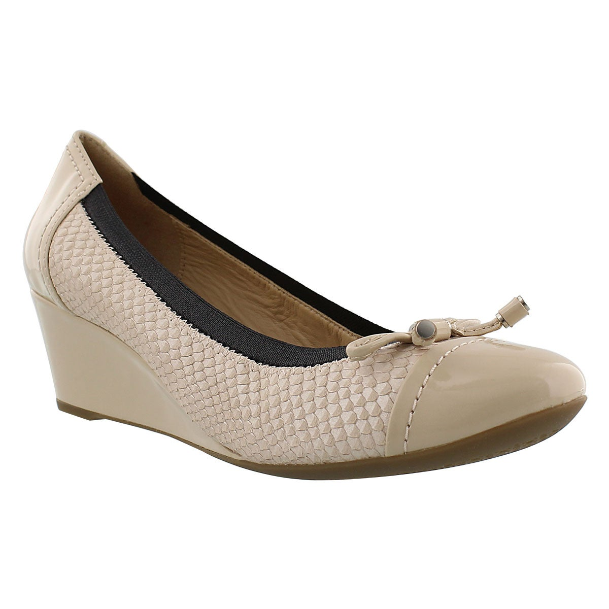 Lds Floralie skin dress wedge