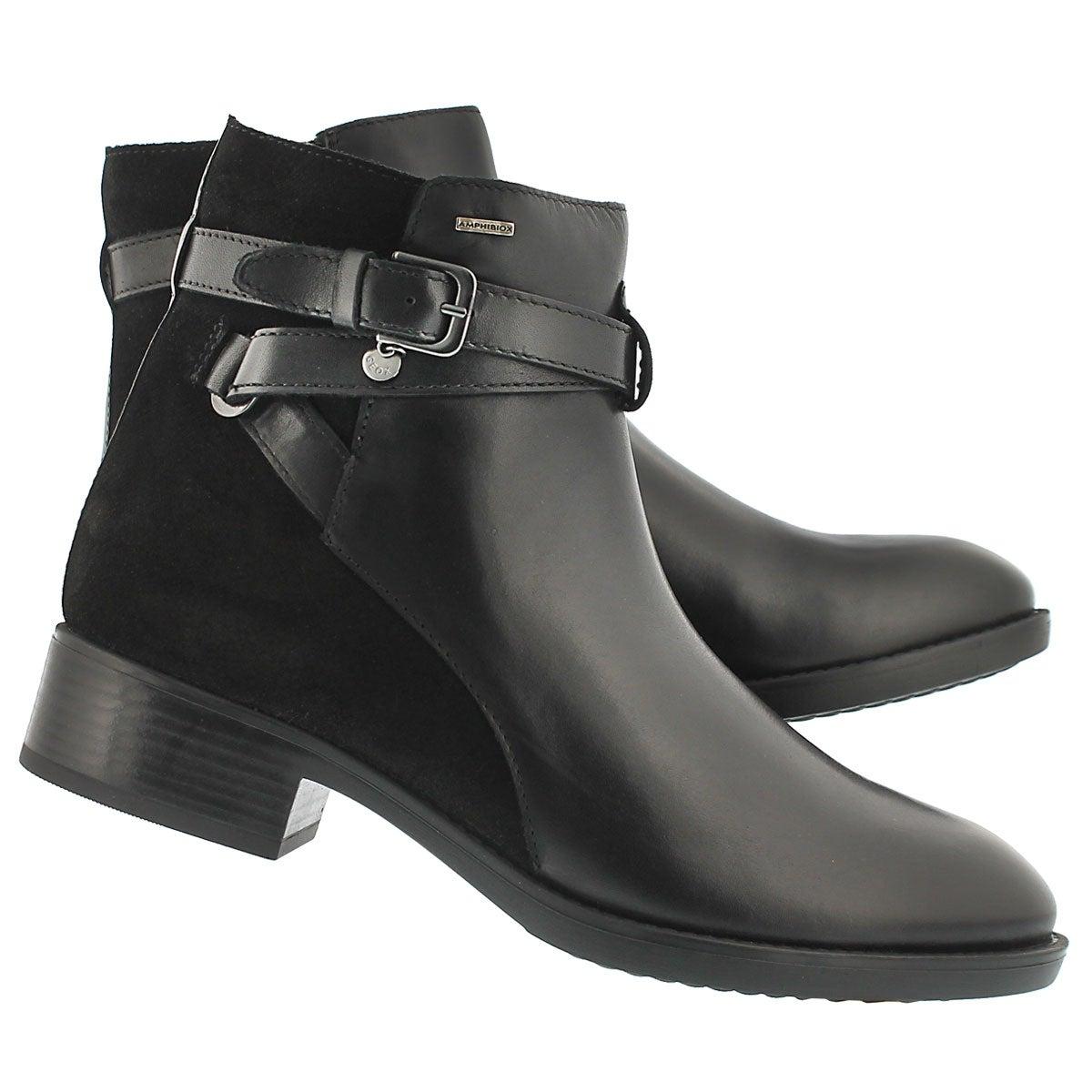 Lds Felicity ABX B blk ankle bootie