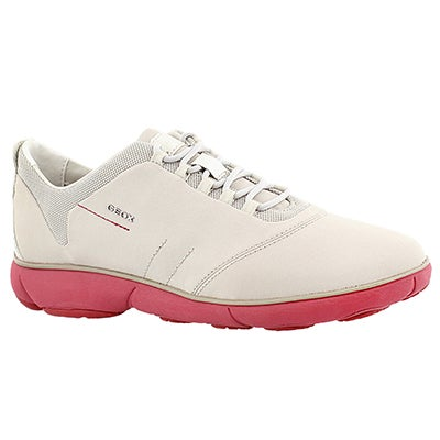 Geox Women's NEBULA off white/coral running shoes
