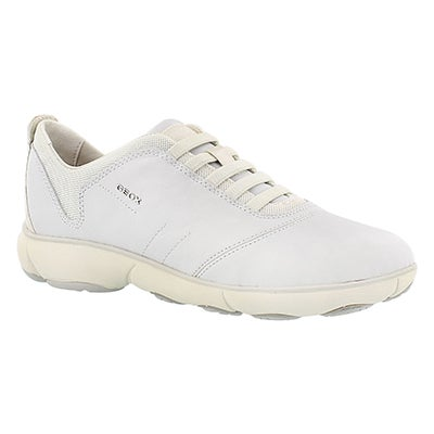 Geox Women's NEBULA off white running shoes