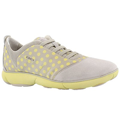 Geox Women's NEBULA off white/yellow running shoes
