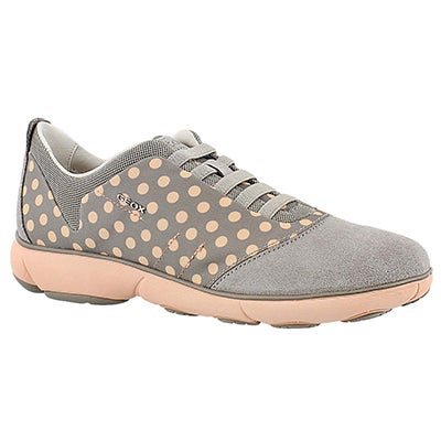 Geox Women's NEBULA light grey/peach running shoes