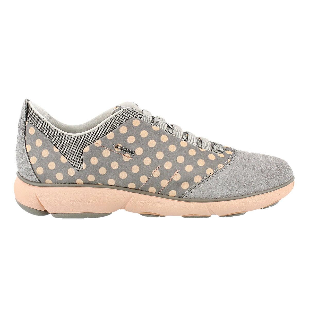 Lds Nebula lt gry/peach running shoe
