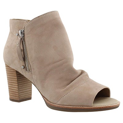 Geox Women's NEW CALLIE taupe peep toe heels