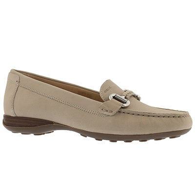 Lds Euro light taupe slip on loafer
