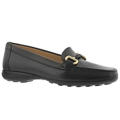 Lds Euro black slip on loafer