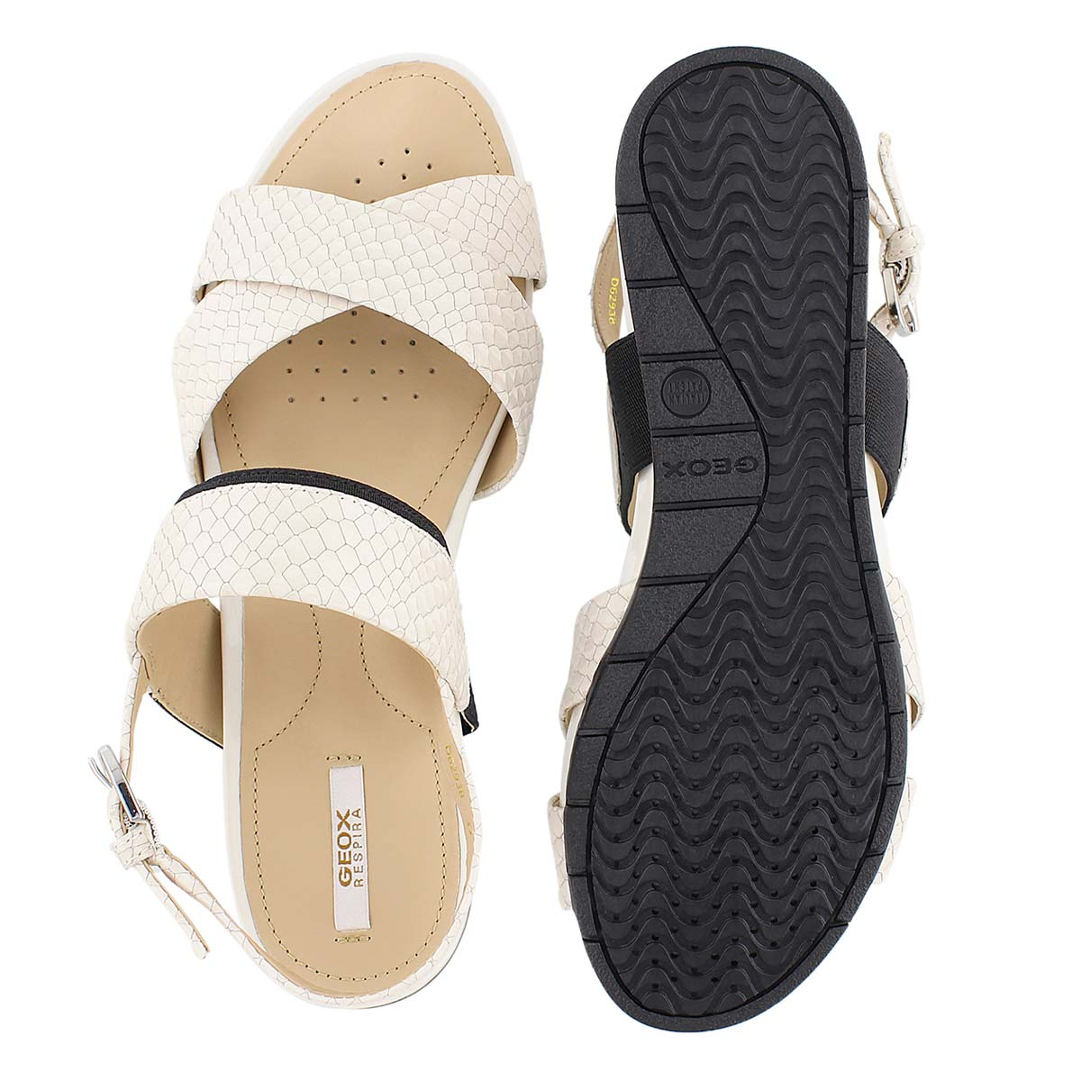 Sandale hab Formosa, blc cassé/noir, fem