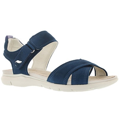 Geox Women's SUKIE denim casual sandals
