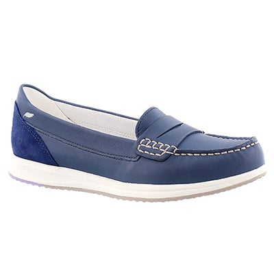 Geox Women's AVERY denim slip on casual loafers