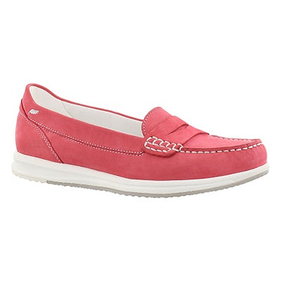 Geox Women's AVERY coral slip on casual loafers