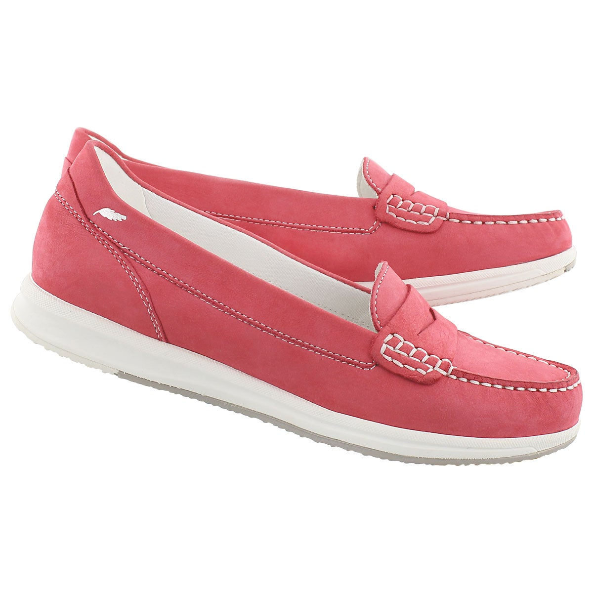 Lds Avery coral slip on casual loafer