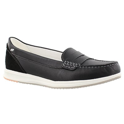 Geox Women's AVERY black slip on casual loafer