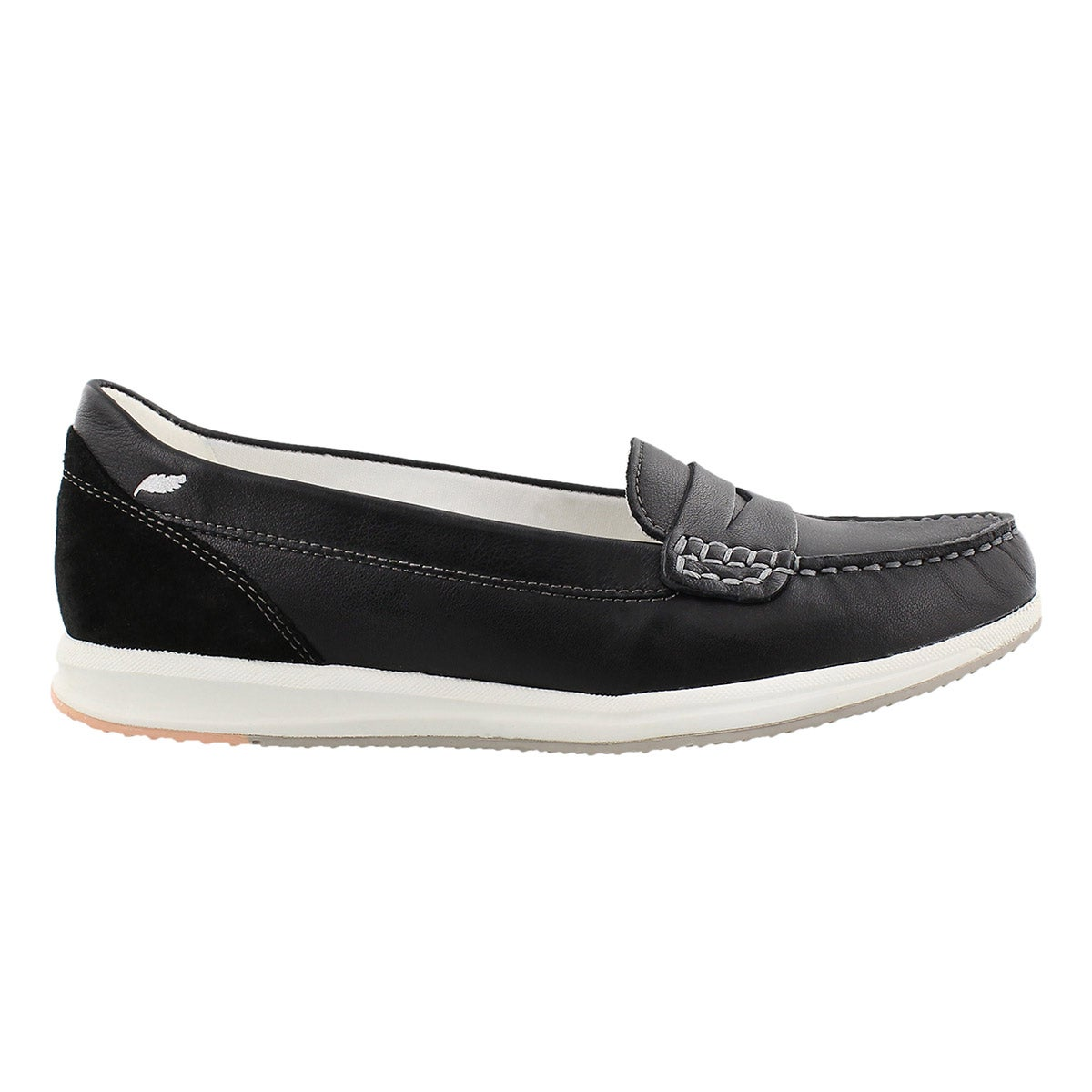 Lds Avery black slip on casual loafer