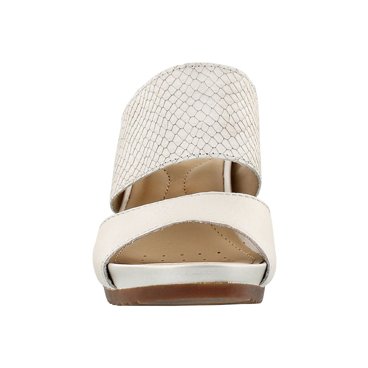 Sandale talon comp NEW RORIE, blanc, fem