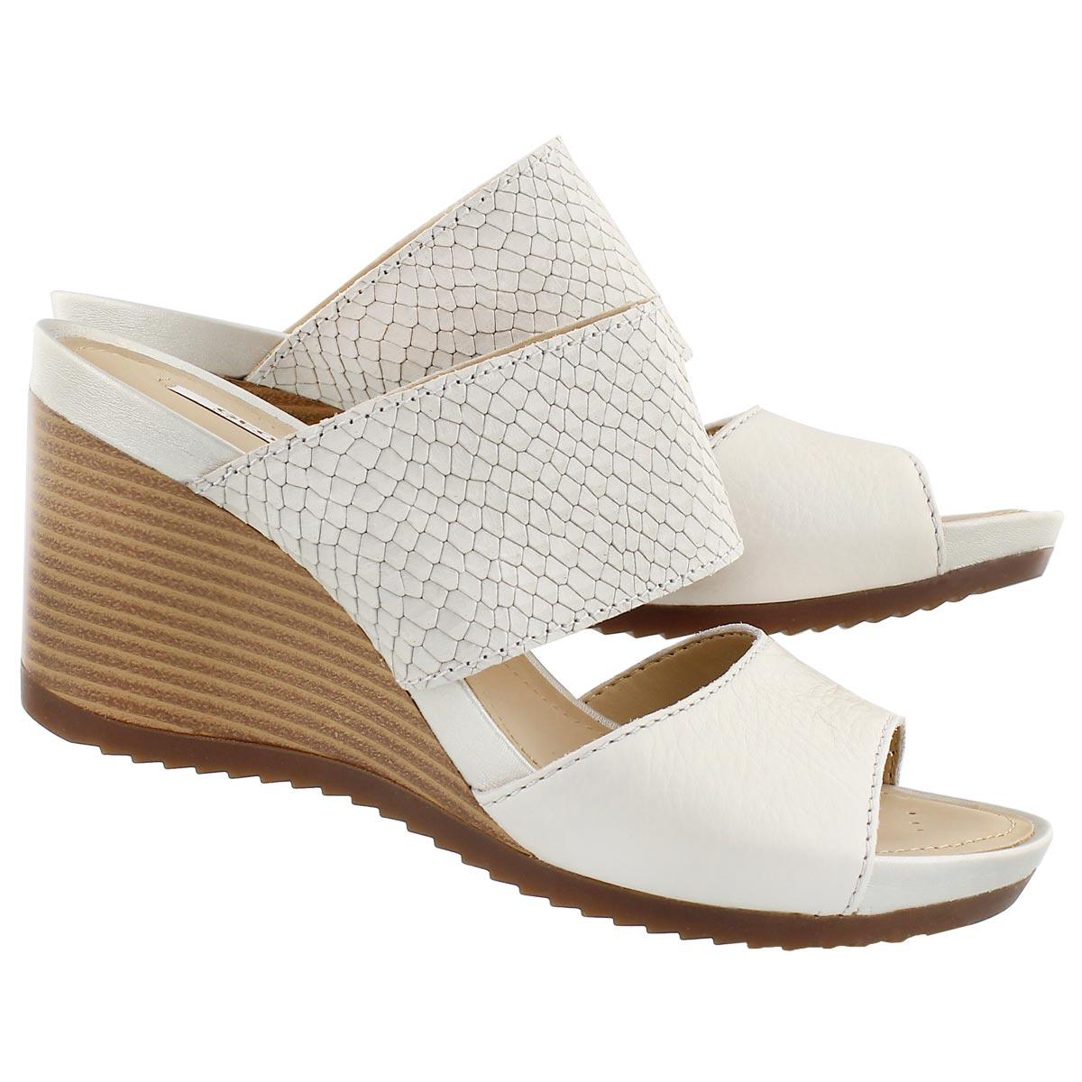 Lds New Rorie white slip on wedge sandal