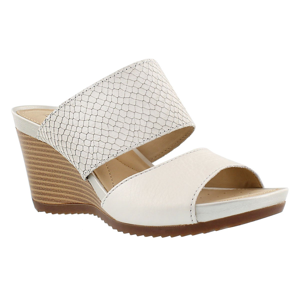 Lds New Rorie white slip on wedge sandal