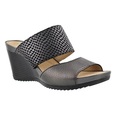 Lds New Rorie black slip on wedge sandal