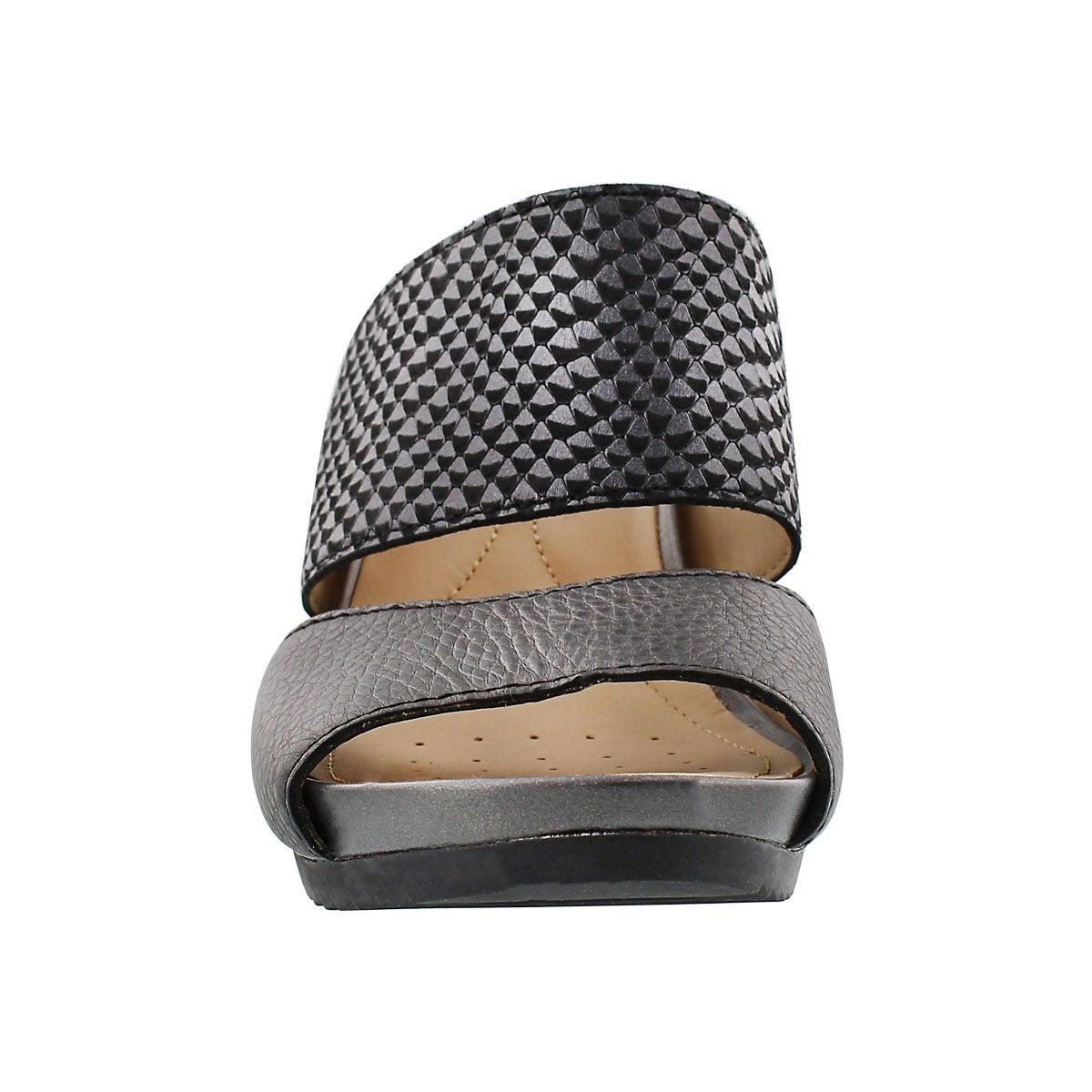 Sandale talon comp. NEW RORIE, noir, fem
