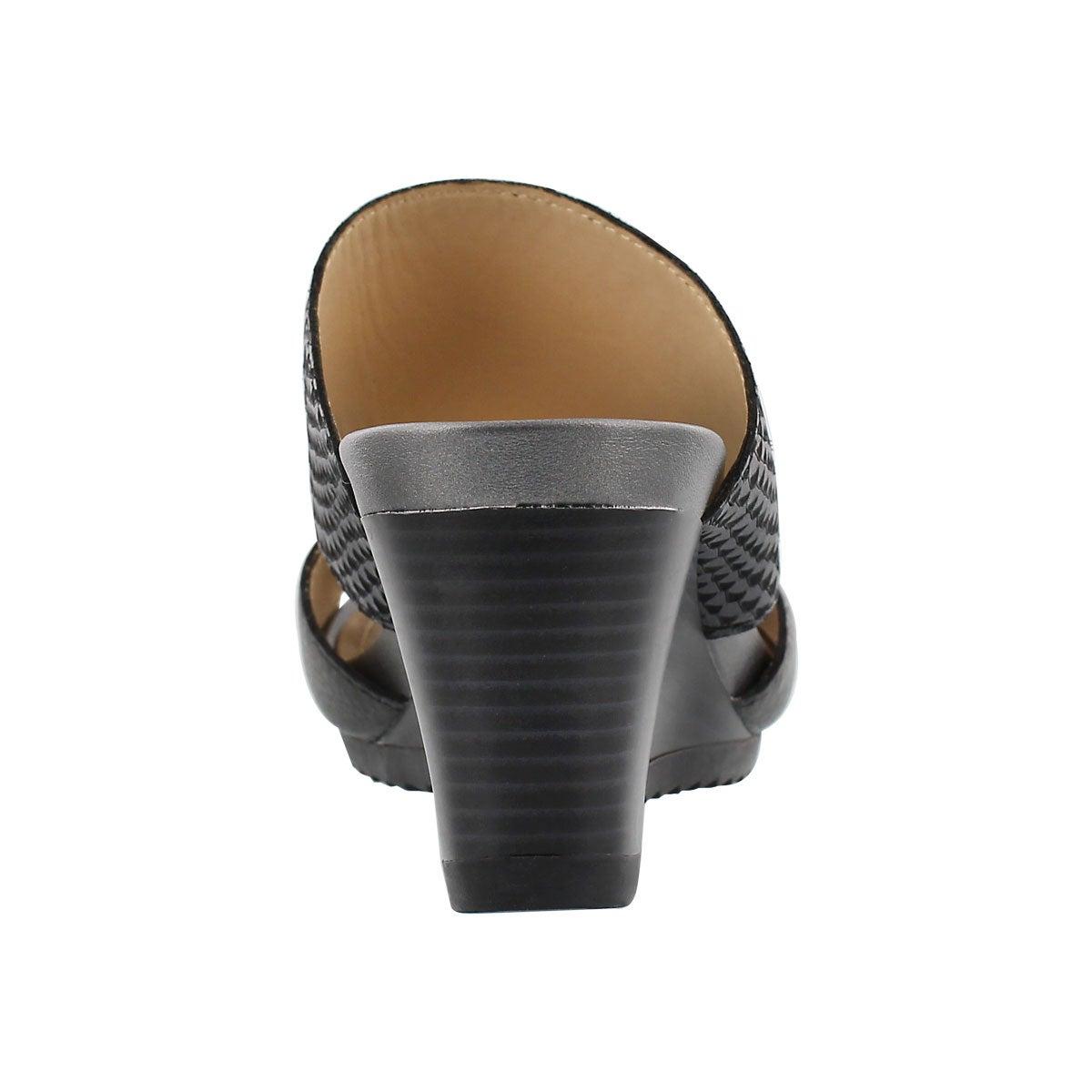 Lds New Rorie black slip on wedge sandal