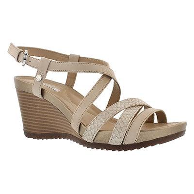 Geox Women's NEW RORIE skin wedge sandals
