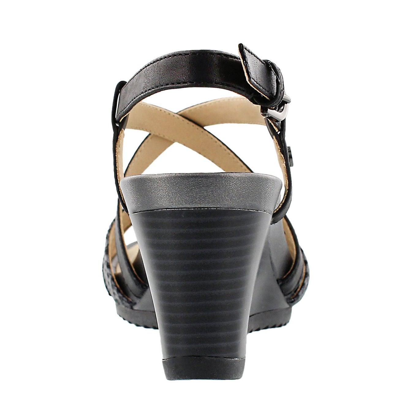 Sandale talon comp NEW RORIE, noir, fem