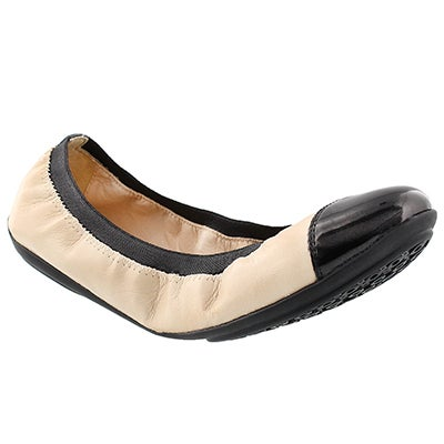 Geox Women's CHARLENE skin/black dress flats