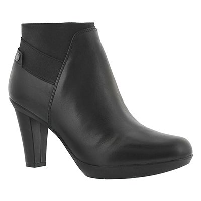 Lds Inspiration Stiv blk lthr ankle boot