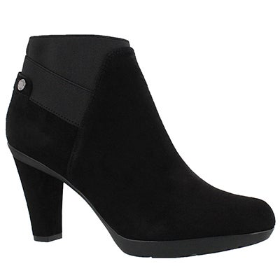 Geox Women's INSPIRATION STIV black suede ankle boots