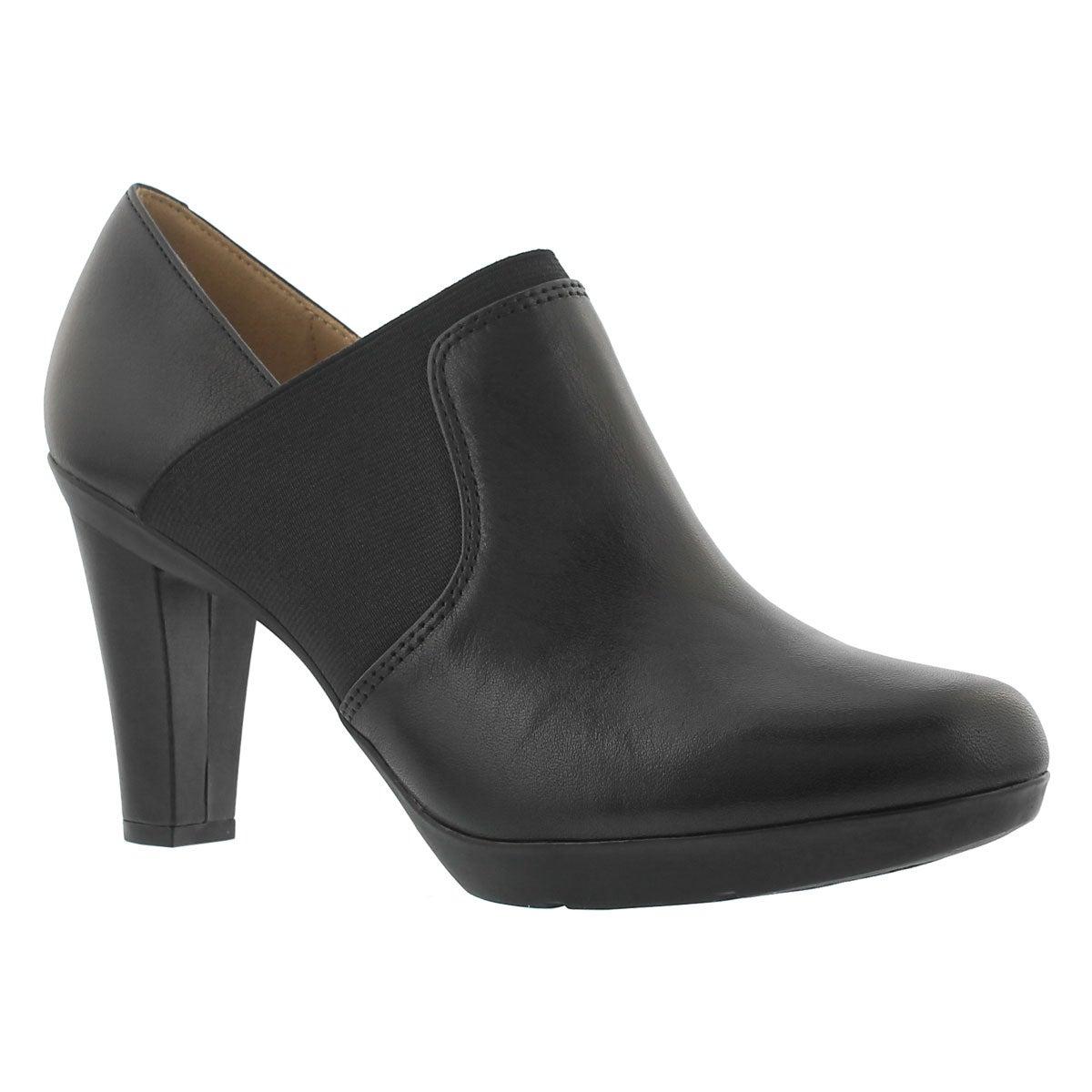 Lds Inspiration blk leather dress heel