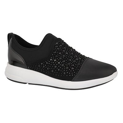 Lds Ophira black slip on sneaker