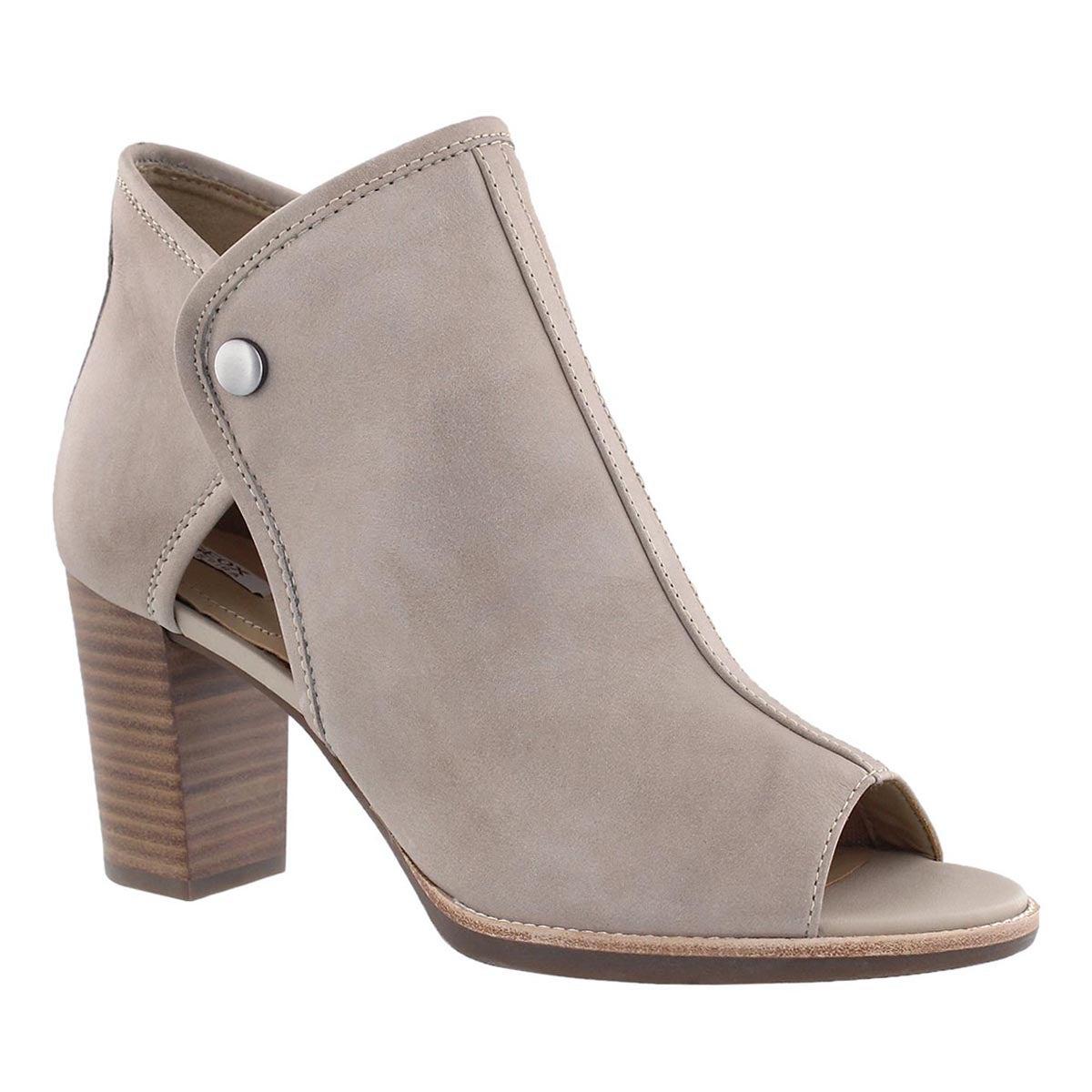 Women's CALLIE light taupe peep toe dress booties