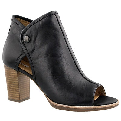 Lds Callie black peep toe dress bootie